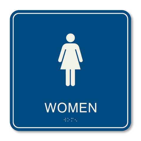 Primary - Restroom Women (Blue & Ash)