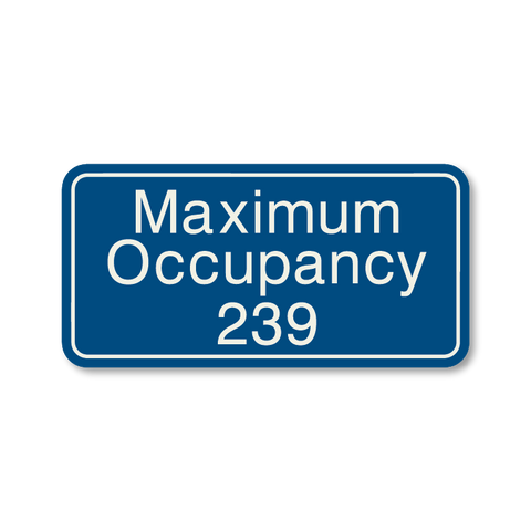 Primary - Maximum Occupancy  (Blue & Ash)