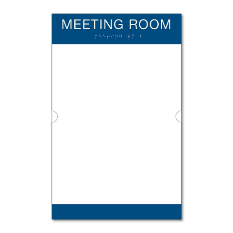 Primary - Room ID w/Doc Holder  (Blue & Ash)