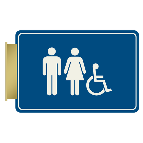 Primary - Flag ID Restroom  (Blue & Ash)