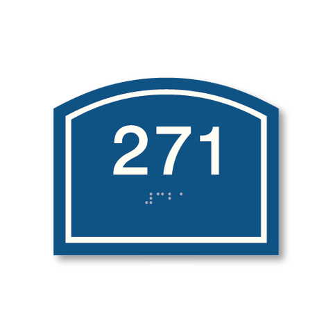 Primary - Arch  Room Number  (Blue & White)