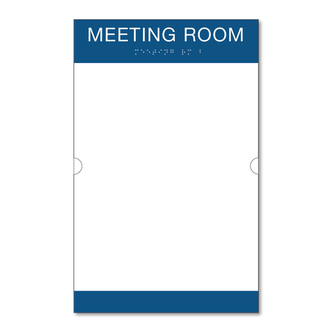 Primary - Room ID w/Doc Holder  (Blue & White)
