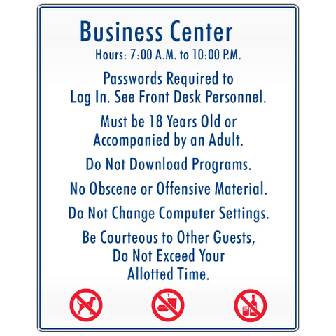 Business Center Rules