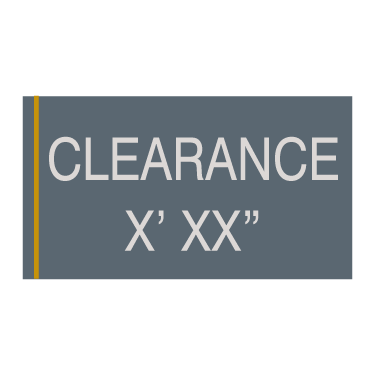 Cambria Suites - Clearance Sign
