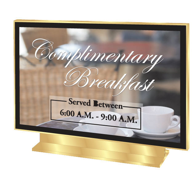 Changeable Front Desk Sign - Counter Style