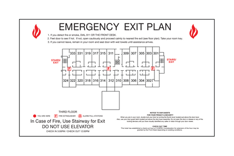 Quality Inn - Emergency Exit Plan