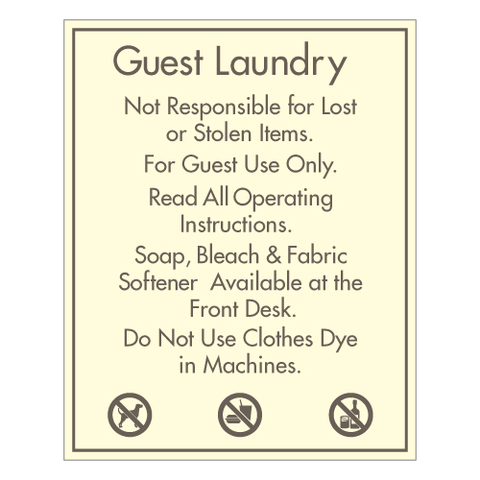 Guest Laundry Rules and Hours