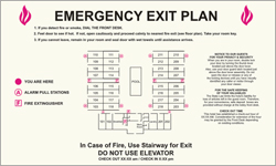 Guest Room Evacuation Plans-Only available when ordering a full sign package. Layout fees may apply.