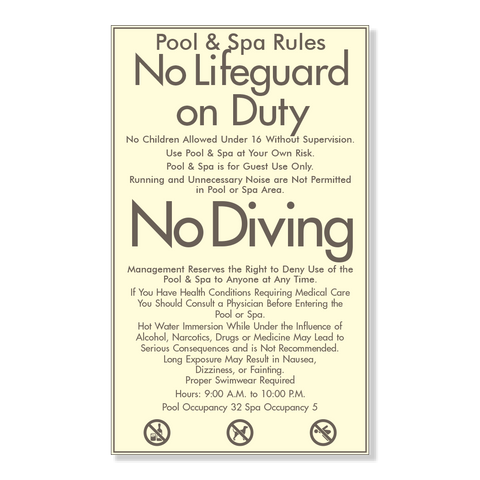 Pool & Spa Rules