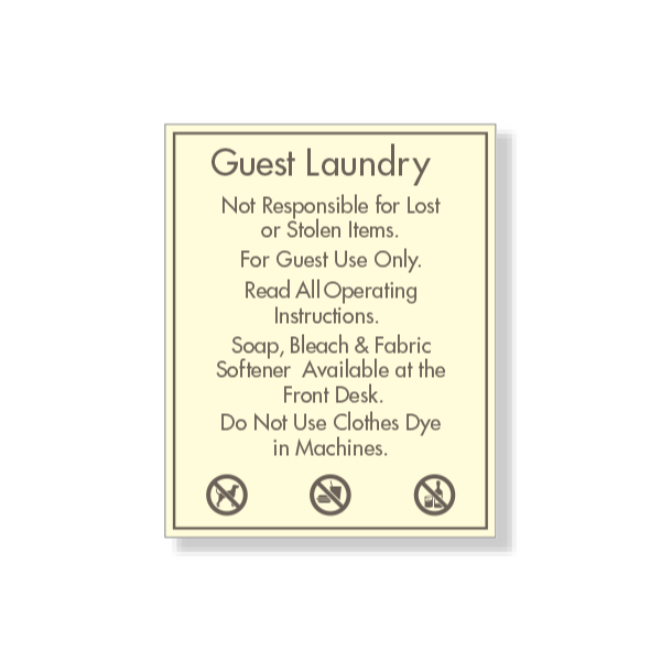 Guest Laundry Rules and Instructions
