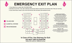 Emergency Exit Plan-Only available when ordering a full sign package. Layout fees may apply.