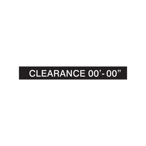Clearance Sign