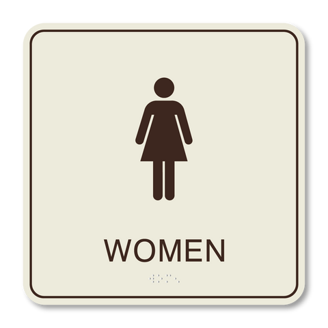 Hospitality Primary - Restroom Women (Ash/Dark Brown)