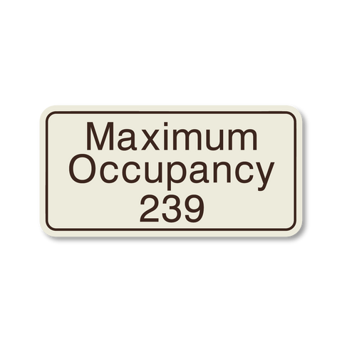Hospitality Primary - Maximum Occupancy (Ash/Dark Brown)