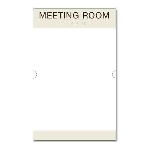 Best Western Primary - Room ID w/Doc Holder (Ash/Dark Brown)