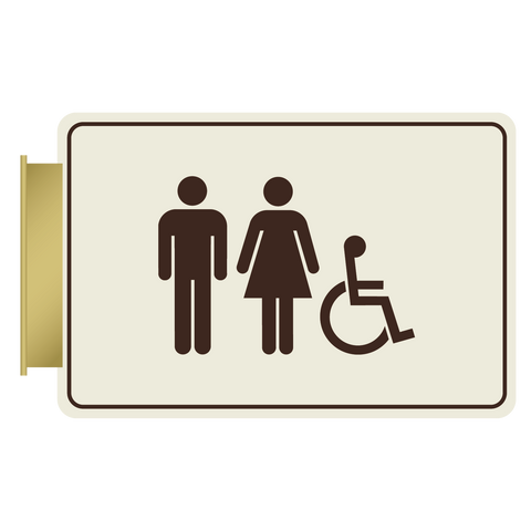 Hospitality Primary - Flag ID Restroom (Ash/Dark Brown)