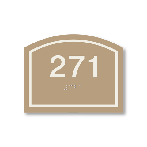 Primary - Arch  Room Number (Beige/Ash)