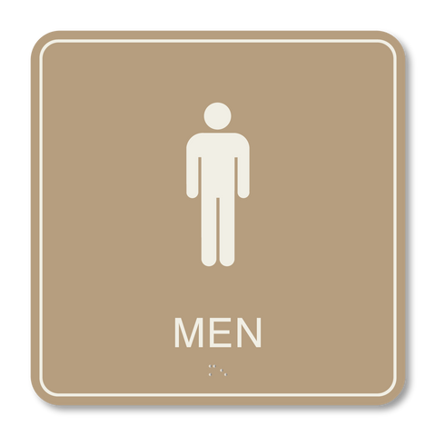 Primary - Restroom Men (Beige/Ash)