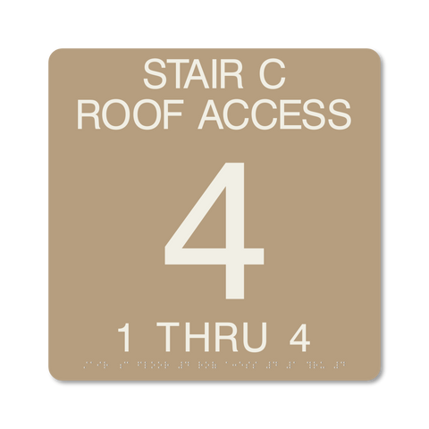 Primary Series - Stairwell ID (Beige/Ash)