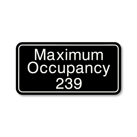 Primary - Maximum Occupancy