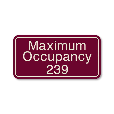 Primary - Maximum Occupancy (Ruby/Ash)