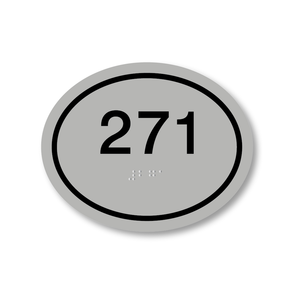 Primary oval room number silverblack all sign systems false buycottarizona Image collections