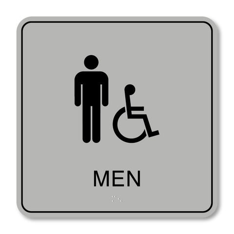 Primary - Restroom Men ISA (Silver/Black)