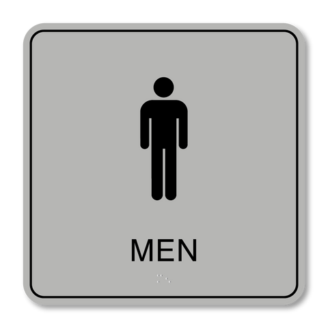 Primary - Restroom Men (Silver/Black)