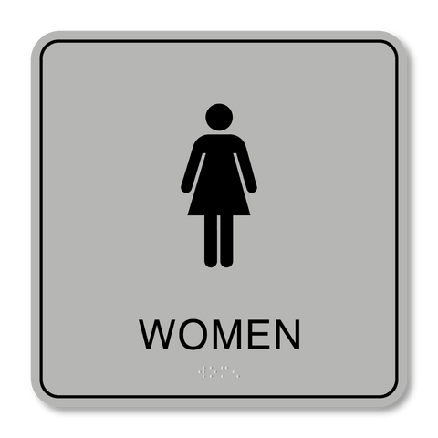 Primary - Restroom Women (Silver/Black)