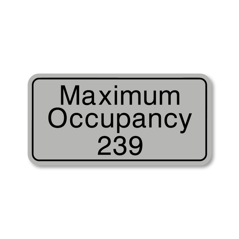 Primary - Maximum Occupancy (Silver/Black)