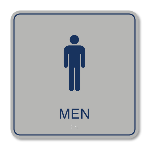Primary Series - Restroom Men (Vintage Silver/Airforce Blue)