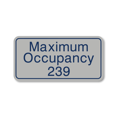 Primary Series - Maximum Occupancy (Vintage Silver/Airforce Blue)
