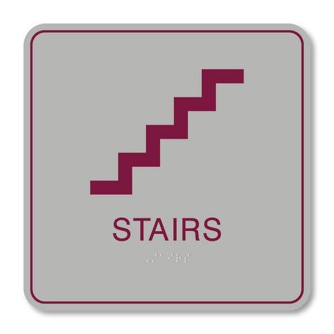 Primary Series - Stair ID (Vintage Silver/Burgundy)