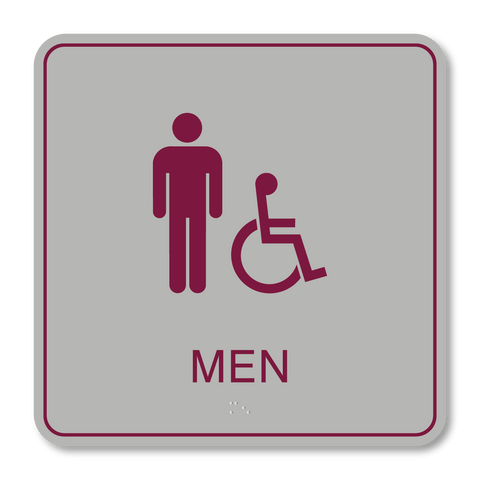 Primary Series - Restroom Men ISA (Vintage Silver/Burgundy)