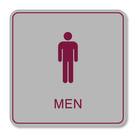 Primary Series - Restroom Men (Vintage Silver/Burgundy)