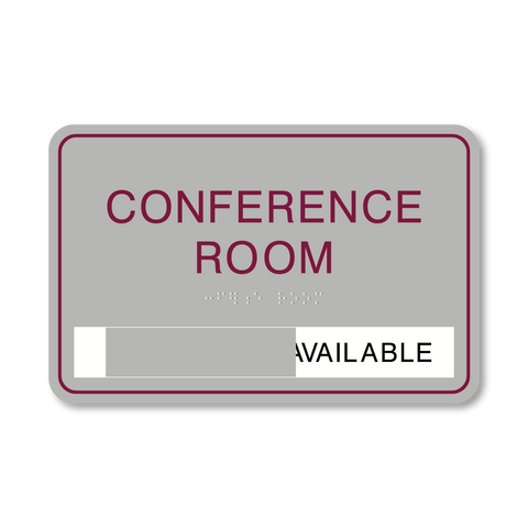 Primary Series - Room ID w/Slider (Vintage Silver/Burgundy)