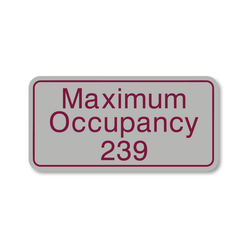 Primary Series - Maximum Occupancy (Vintage Silver/Burgundy)