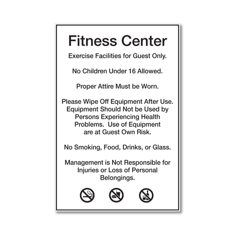 Best Western Fitness Center Rules