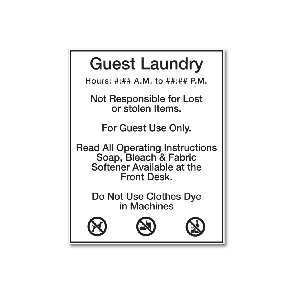 Laundry Rules White Black