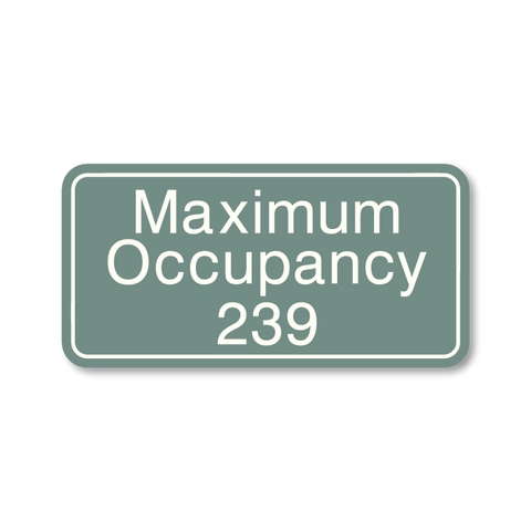 Primary - Maximum Occupancy  (Sea Grey & White)