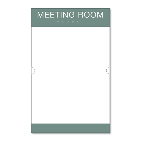 Primary - Room ID w/Doc Holder  (Sea Grey & White)