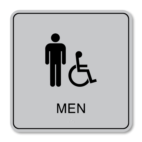 Primary - Restroom Men ISA  (Vintage Silver & Black)