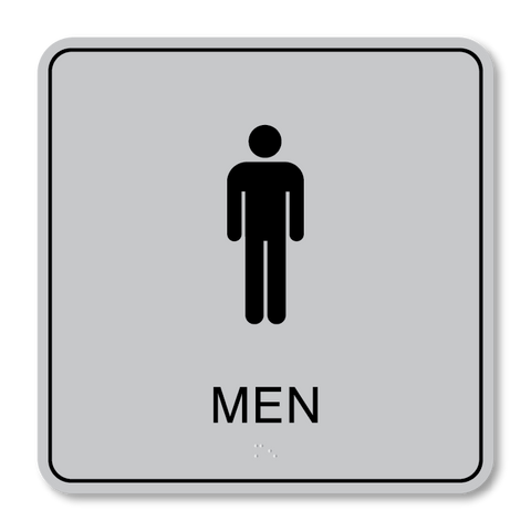 Primary - Restroom Men  (Vintage Silver & Black)