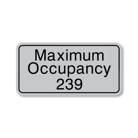 Primary - Maximum Occupancy  (Vintage Silver & Black)
