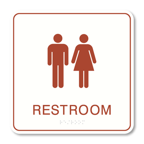 Primary - Restroom  (White & Canyon)
