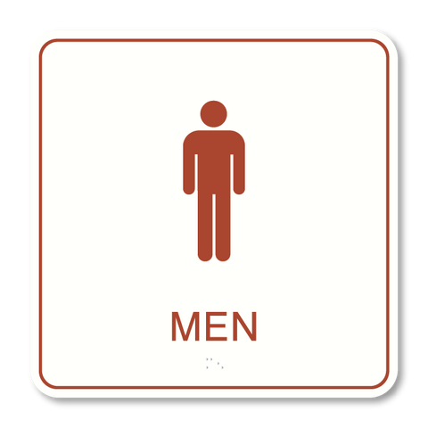Primary - Restroom Men  (White & Canyon)