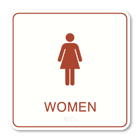 Primary - Restroom Women (White & Canyon)