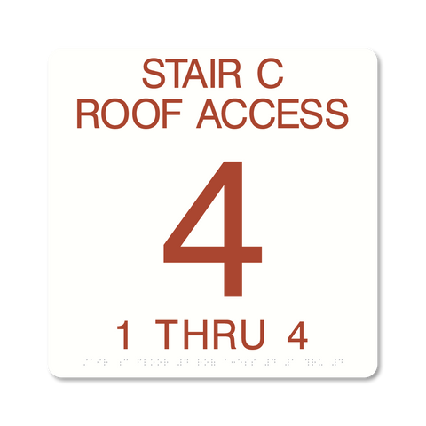 Primary -Stairwell ID  (White & Canyon)