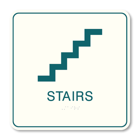 Primary - Stair ID  (White & Teal)
