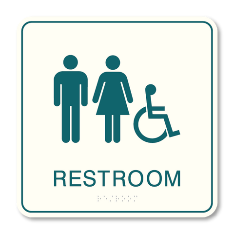 Primary - Restroom ISA  (White & Teal)